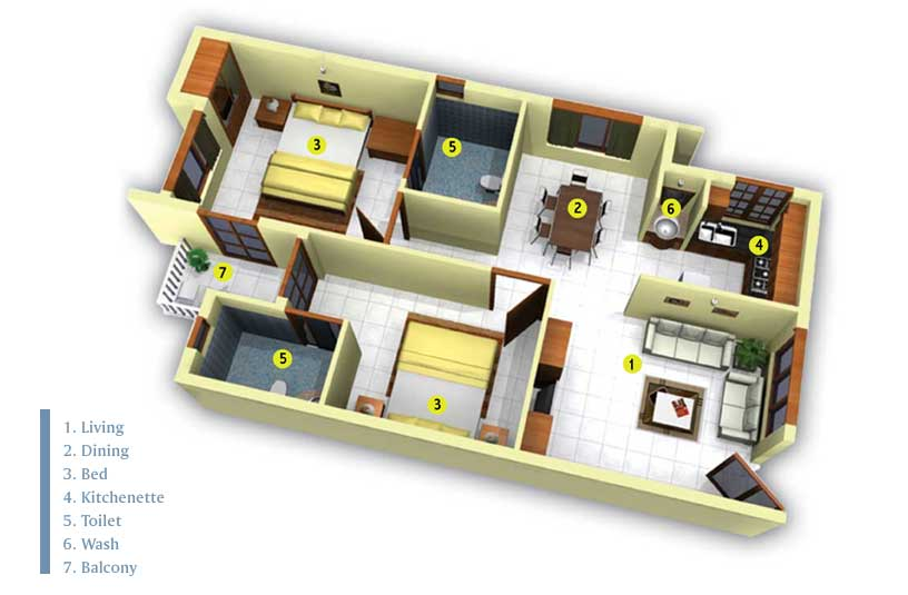 3 Bedroom House Layout Plans